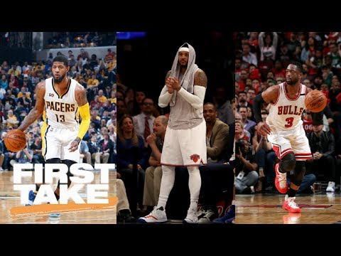 Cavaliers Could Get Paul George, Carmelo Anthony And Dwyane Wade | First Take | June 26, 2017