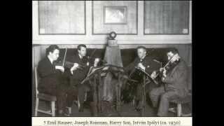 Budapest String Quartet - Beethoven Quartet op. 59 #1 (Razumovsky), mvt 3 & 4