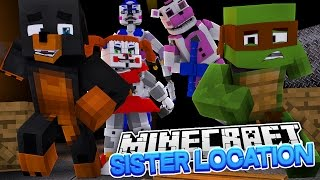 Minecraft FNAF SISTER LOCATION - TINY TURTLE & DONUT GET TRAPPED IN SCARY TOY STORE - Donut the Dog