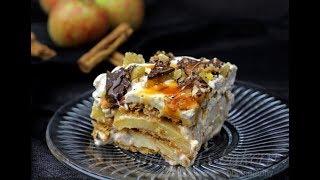 Vegan Apple Lasagna! No Bake Recipe!