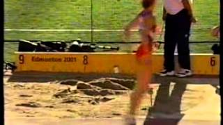 ATLETICA MONDIALI EDMONTON 2001 ORO BIS DI FIONA MAY NEL LUNGO
