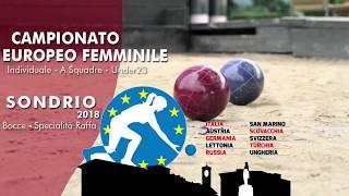 Finali Campionato Europeo Femminile - Raffa - Sondrio