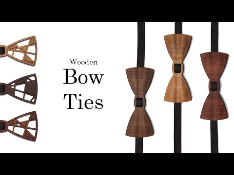 Wooden Bow Tie & Matching Pocket Squares