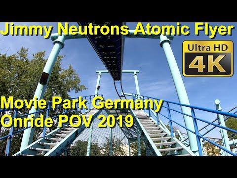 Jimmy Neutron's Atomic Flyer – Onride - Movie Park Germany – 4K POV Jimmy Neutron Achterbahn 2019