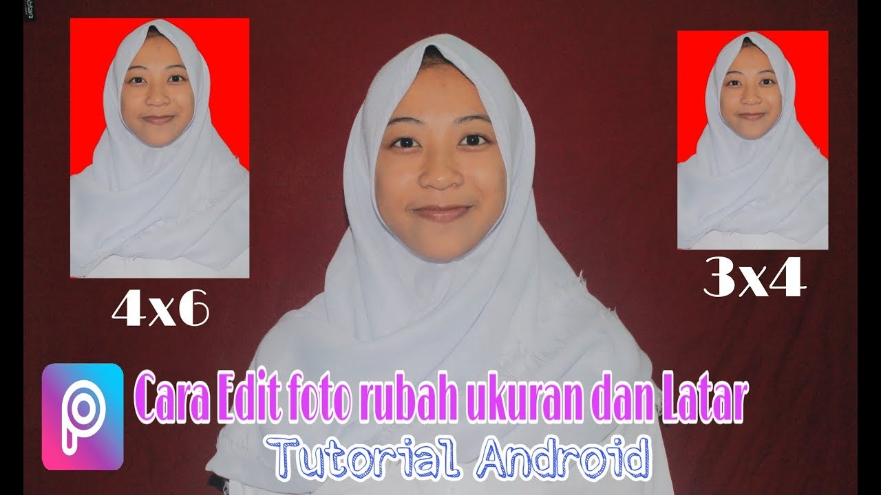 Tutorial Cara Mudah Membuat Pas Foto 4 X 6 Latar Merah Dengan Aplikasi Picsart Youtube