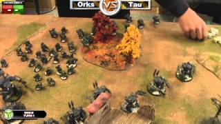 Orks vs New Tau Warhammer 40k Battle Report - Jay Knight Batrep Ep 7 - Part 1/5