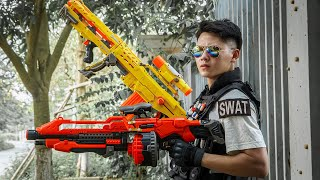 LTT Game Nerf War : Special Training Warriors SEAL X Nerf Guns Fight Rocket Crazy Squad Number One