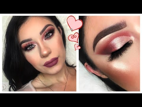 VALENTINES ROSE GOLD CUT CREASE | BEAUTY CREATIONS TEASE ME PALETTE
