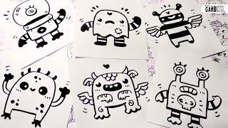 doodles drawings kawaii easy draw monsters simple hello