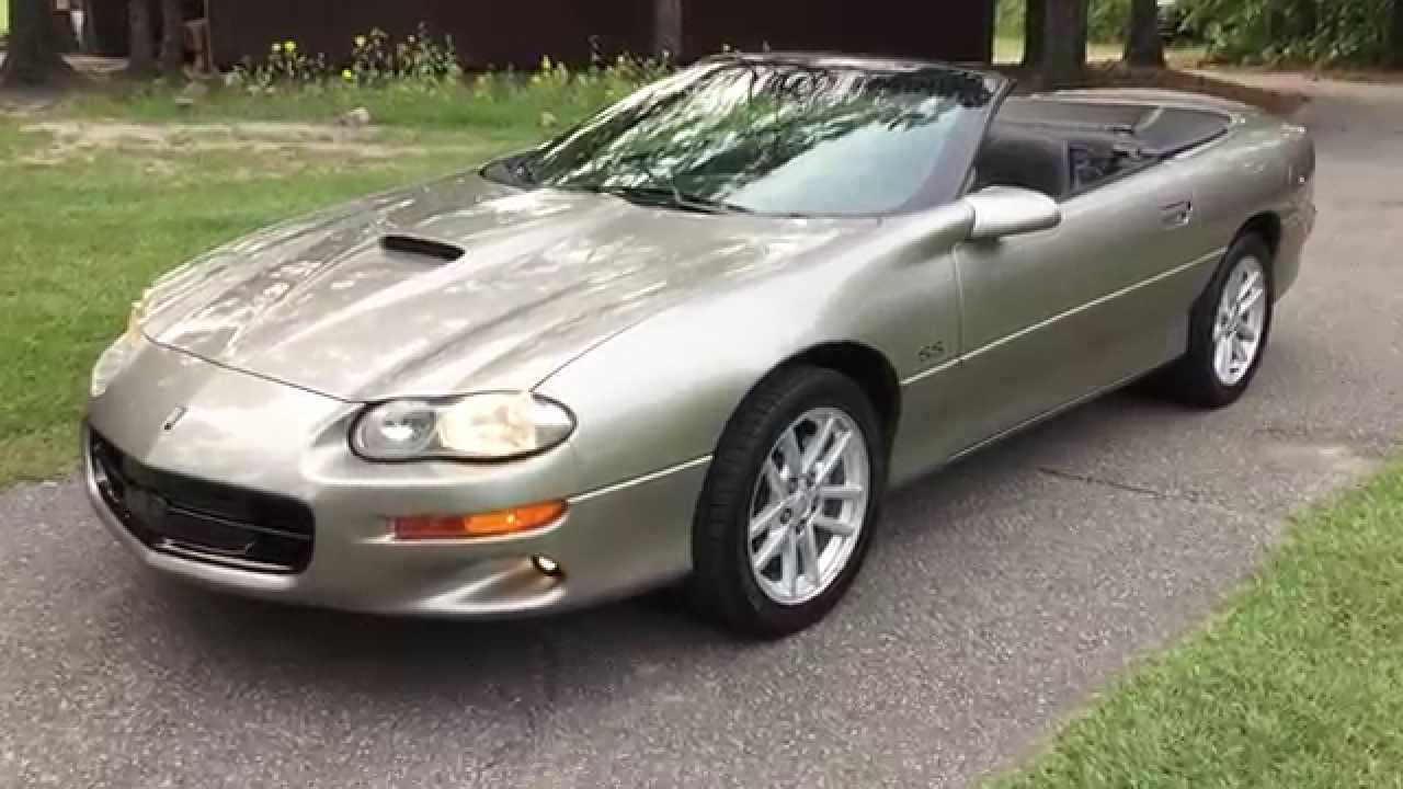 2002 Chevy Camaro Ss Slp Convertible 35h Anniversary Low Miles For 706 831 1899