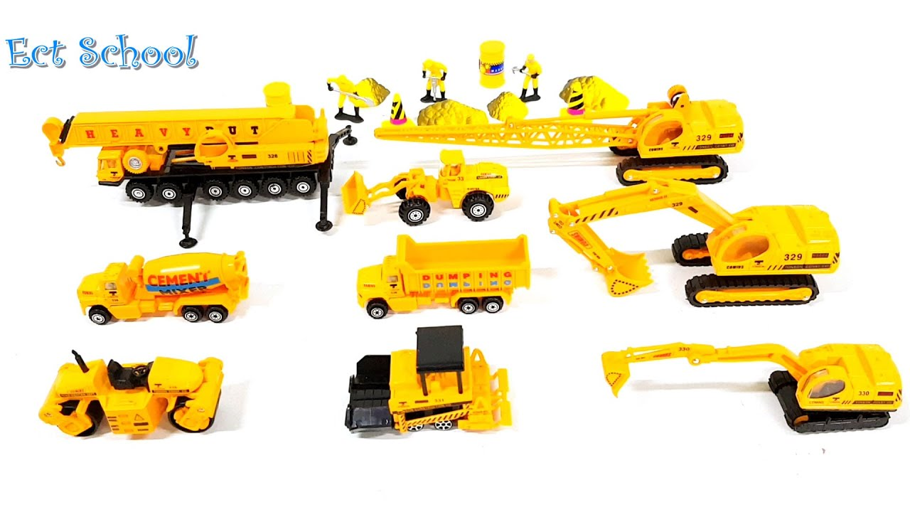 Learning Construction Vehicles Names and Sounds for kids with ...