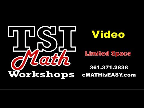 TSI Test  Texas Success Initiative MATH PREP
