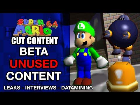 Beta Unused Content of Super Mario 64 | Mario Cut Content
