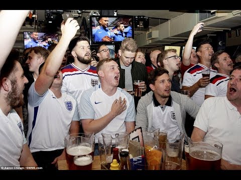 ENGLAND FANS AFTER HARRY KANE NODDED ONE HOME FROM RAILWAY PUB LONDON