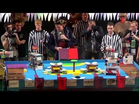 2012 - LES DTRAQUES vs ClubElek - Coupe de France de robotique 2012 - Quart de finale