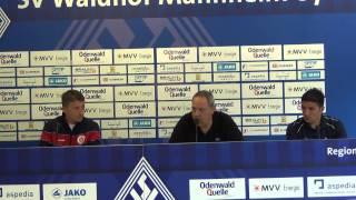 Pressekonferenz SV Waldhof Mannheim - SC Pfullendorf