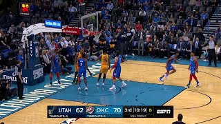 3rd Quarter, One Box Video: Oklahoma City Thunder vs. Utah Jazz