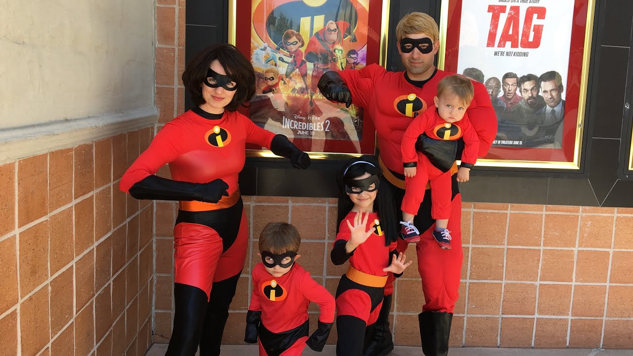Disney Pixar Incredibles 2 Movie Costume Review Mr Incredible Elastagirl Violet Dash Jack Jack Youtube