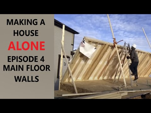Download Youtube: How to build a house alone episode 4 main floor walls