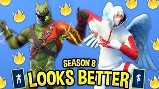These Fortnite Dances Look Better With These Skins..! (LEAKED SEASON 8 SKINS & EMOTES)