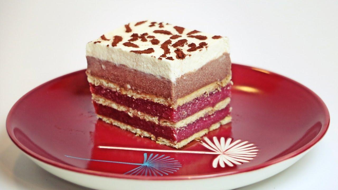 Kekskuchen Ohne Backen Mit Kirschen Und Schokopuddingcreme Ohne