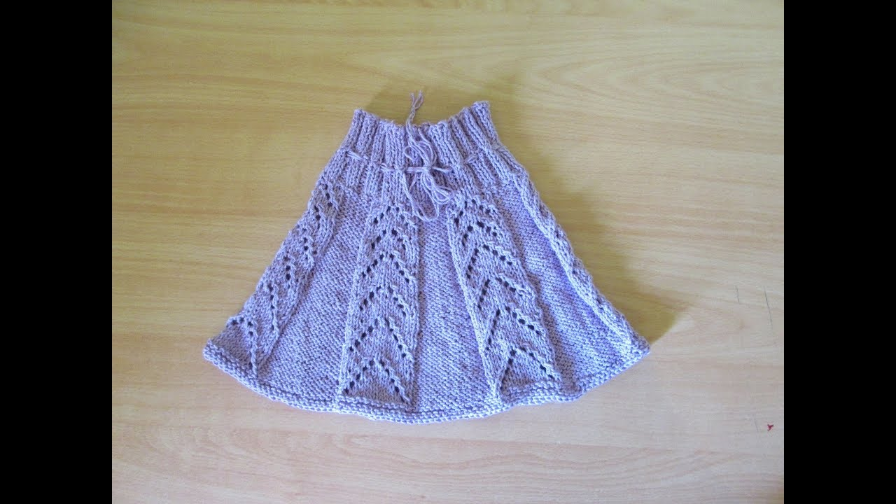 Tricoter Une Jupe Pour Fille Modele Complet Et Facile Youtube