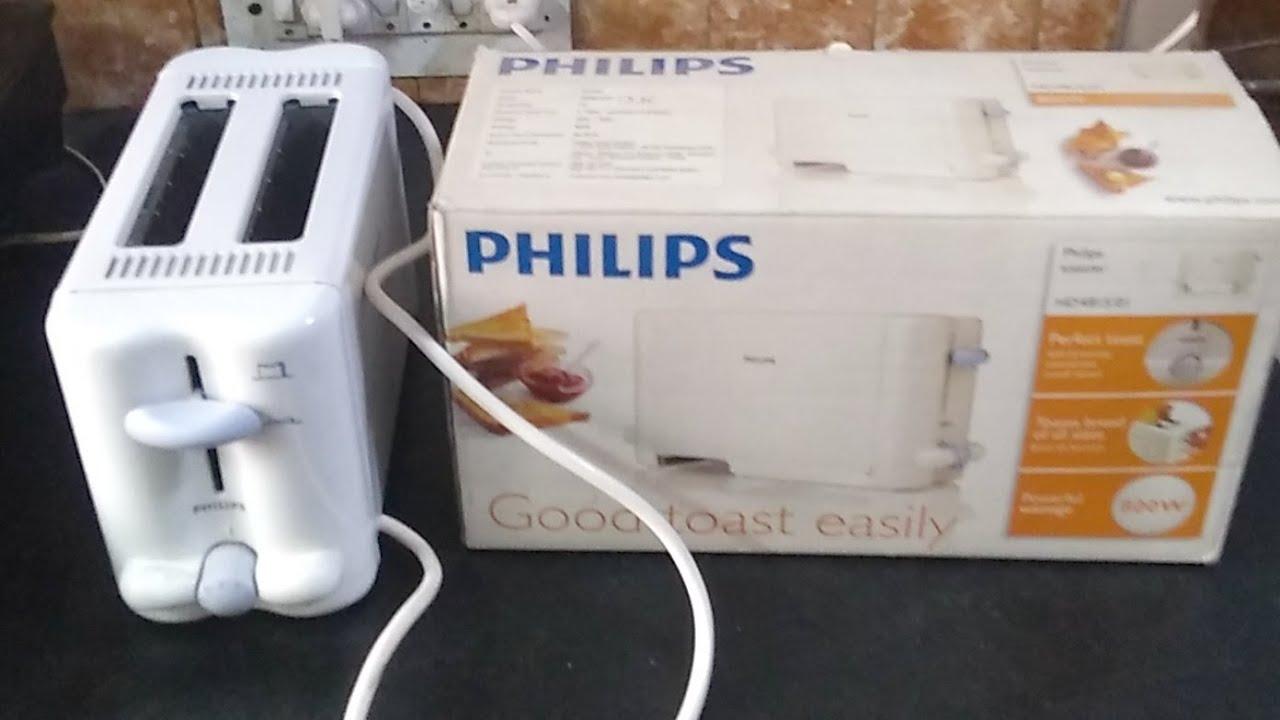 फिलिप्स HD4815/01 टोस्टर में ब्रेड कैसे टोस्ट करें (How to Toast Breads in  Philips Toaster) - YouTube