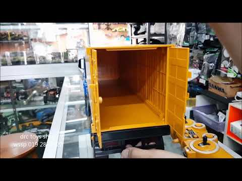 double-e-rc-container-truck-unboxing-and-test