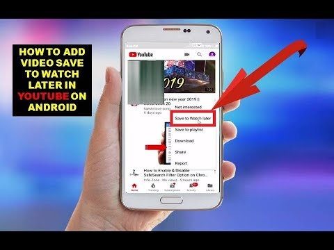 How To Add Video Save To Watch Later In Youtube On Android - YouTube