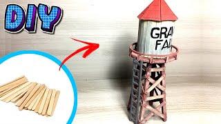 DIY Caixa d'água de Gravity Falls (com palitos de picolé)