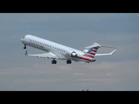 American Eagle, CRJ-900, Fast Morning Takeoff At MHT