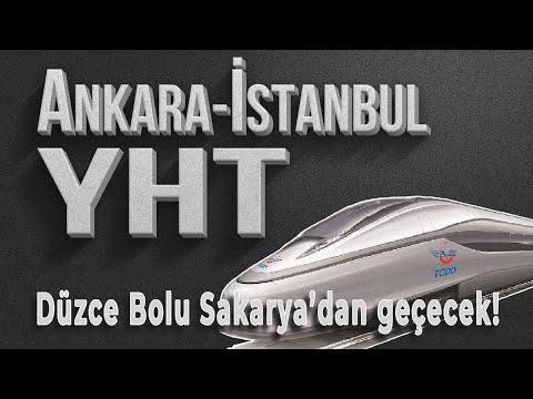 Türkiye'nin en büyük Yüksek Hızlı Tren Projesi - İstanbul Ankara YHT hangi şehirlerden geçecek?