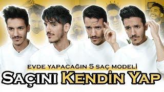 EVDE YAPABİLECEĞİN 5 SAÇ MODELİ! w/ Kadir Alkan