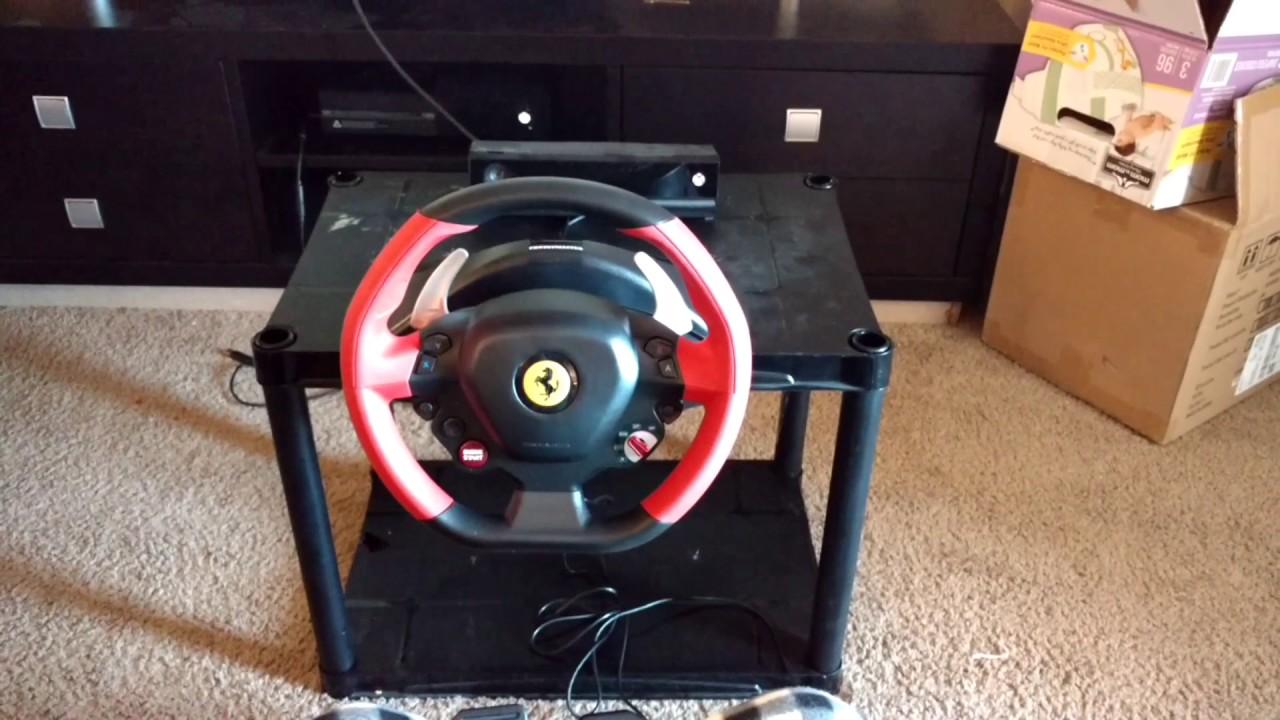 Super Car Thrustmaster Ferrari 458 Spider Racing Wheel For Xbox One Setup