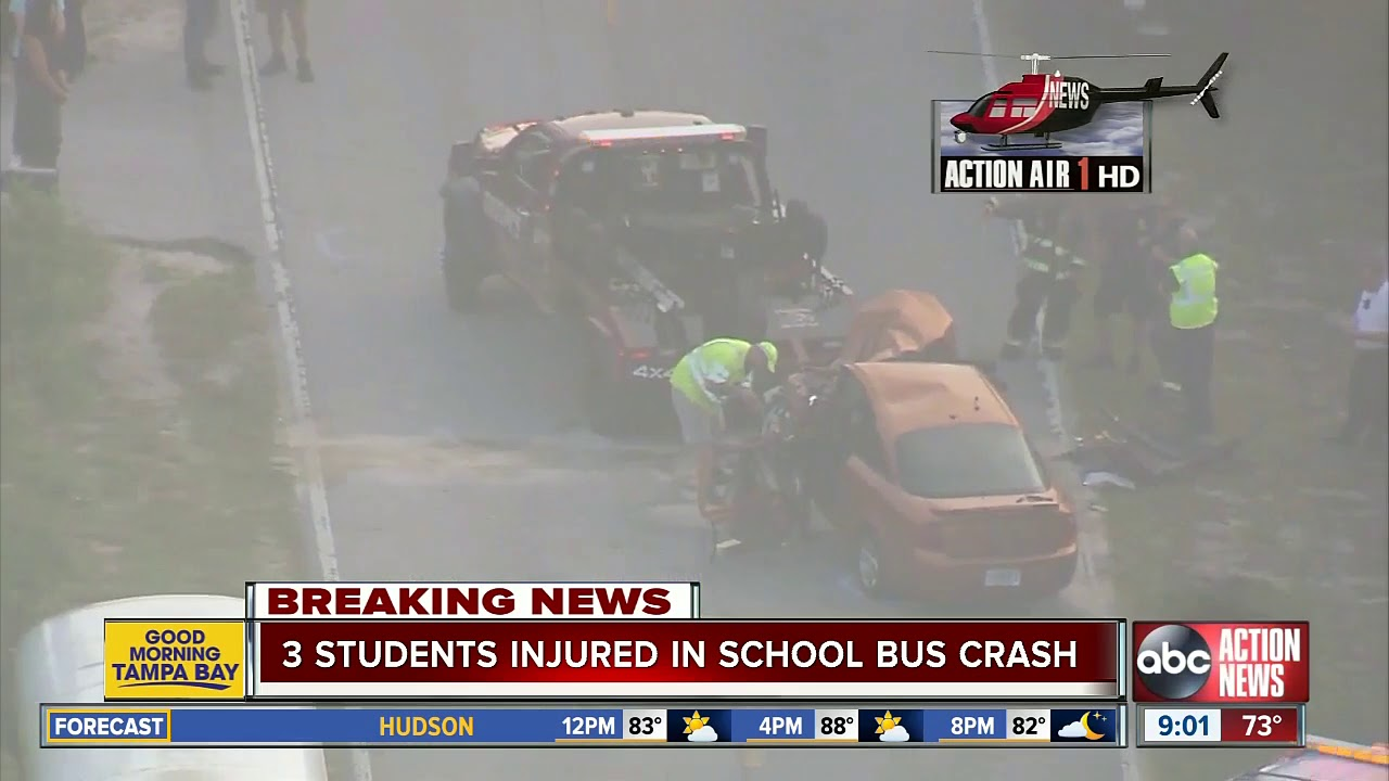 Pasco students injured after head-on crash involving school bus