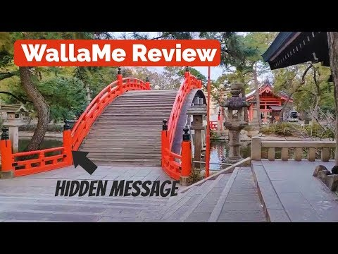 WallaMe Review - Hidden Messages near Sorihashi Bridge, Osaka Japan