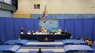 2019-11-03 Одесса, ЧМ Украины по прыжкам на батуте, синхрон девушки 2-й поток
