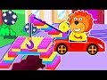 Lion Family 🚗 Super Car Cartoon for Kids
