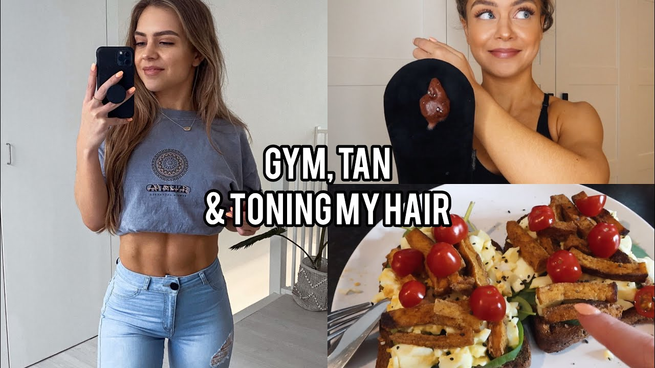 DAY IN THE LIFE   gym session, toning blonde hair + shopping