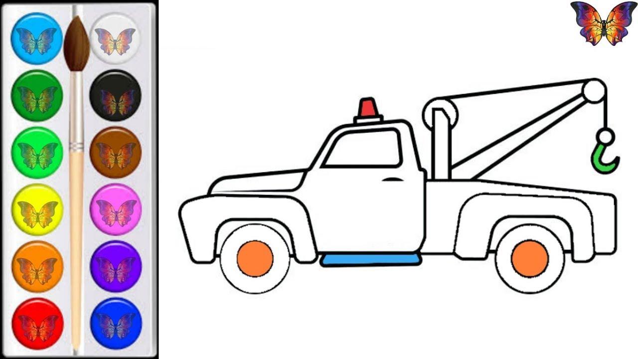 Как нарисовать МАШИНУ ЭВАКУАТОР / мультик раскраска ...