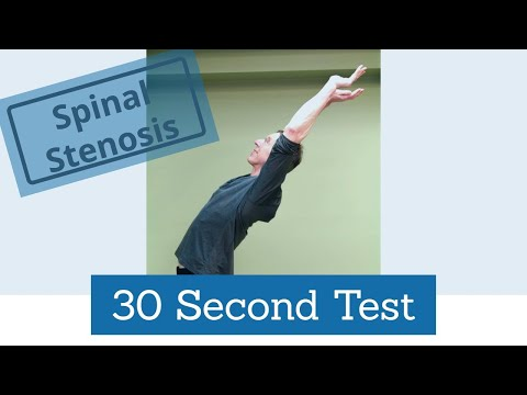 How to Test for Spinal Stenosis- 30 Second Test