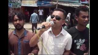 Human-chain protest in Jhenaidah demanding maximum punishment for Rajan