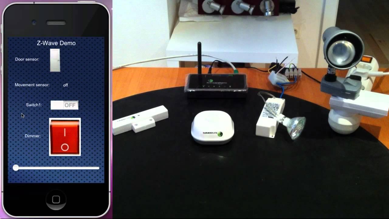 OpenRemote Z-Wave Demo -- Part 1 - YouTube