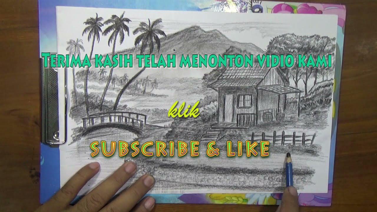 91 Gambar Alam Dengan Pensil Paling Bagus