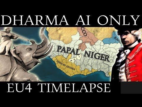 EU4 Timelapse: Dharma DLC AI Only |