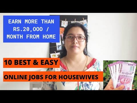 10 BEST ONLINE JOBS FOR HOUSEWIVES TO WORK FROM HOME IN 2020 | #Shinewithmeseries | Passive Income