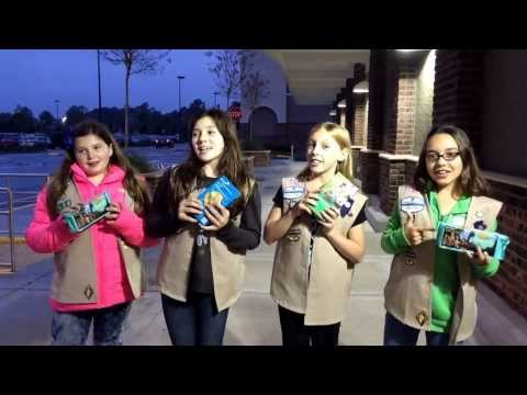Girl Scouts sing Frozen song to sell cookies