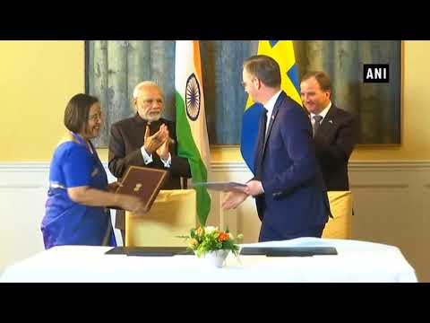 Watch: PM Modi and Swedish PM witness signing of Joint Innovation Partnership