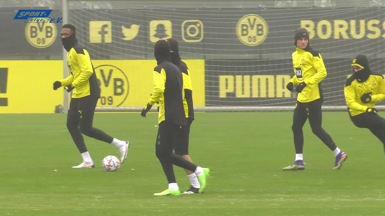 Mannschaftstraining von Borussia Dortmund vom 22.11.2020