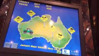 Going for 7th major jackpot on Outback Jack slot.. Max bet bonuses and card features. Part 1.
